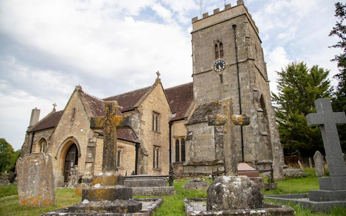 Grade II listed St Andrew's Church in the Dorset village of Okeford Fitzpaine - BNPS