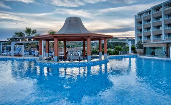 The adult-only pool here provides space to soak away from splashing children (DB Seabank Resort and Spa)
