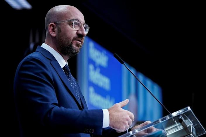 European Council President Charles Michel proposed a five billion euro Brexit reserve fund when he unveiled his latest proposal for a long-term EU budget that will be debated by bloc leaders next week (AFP Photo/Kenzo TRIBOUILLARD)