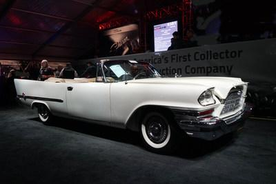 Leake Auctions sold US$17 million of vehicles at its inaugural Scottsdale, AZ event, including a 1957 Chrysler 300C convertible for a new world record price of US$357,500 (CNW Group/Leake Auctions)