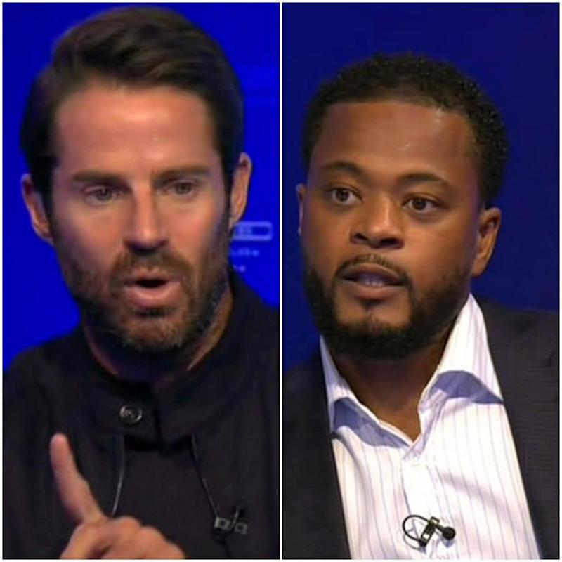 Redknapp and Evra were seen without the Black Lives Matter badges: Sky Sports
