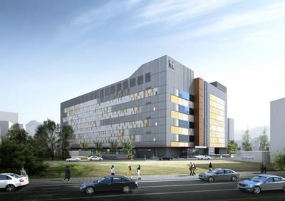 The aerial image of 'KT DX IDC Yongsan', the largest Internet data center (IDC) in Seoul, Korea, opened on November 4.