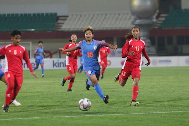 Two early goals by Nepal made it difficult for India to find their way back...