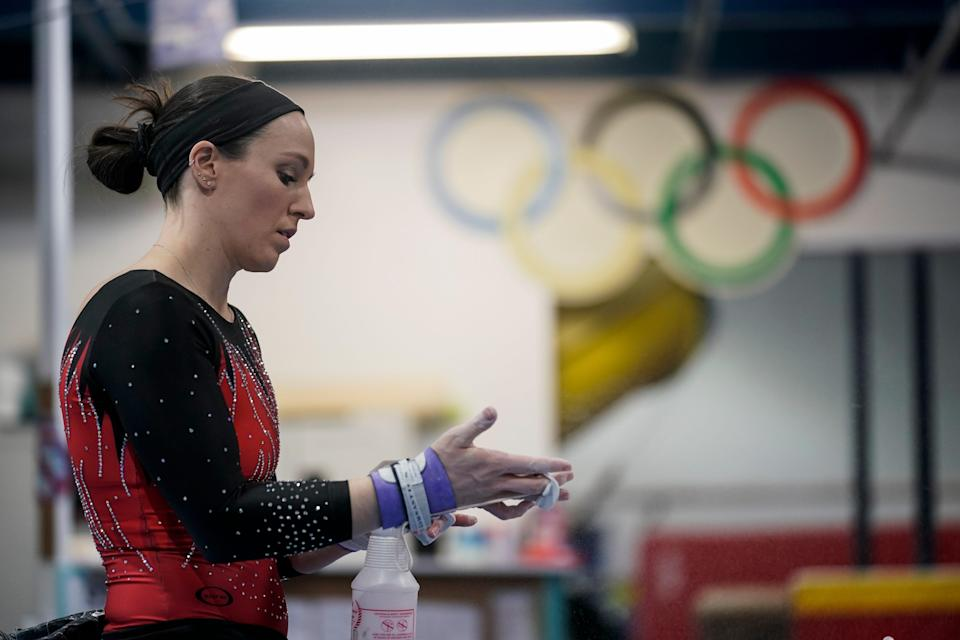 Chellsie Memmel had been training for the world championships for later this year, but with the postponement of the 2020 Tokyo Olympics her plan changed.