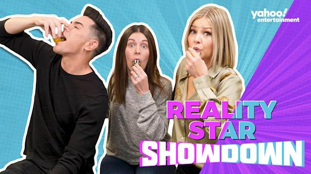 "On this episode of ""Reality Star Showdown"", ""Vanderpump Rules"" stars Tom Sandoval and Ariana Madix join host Tracy Gold."