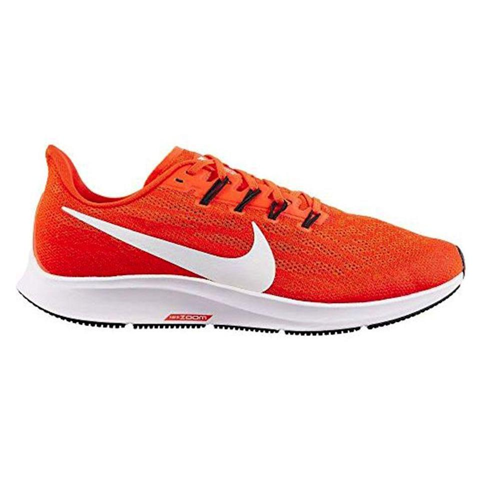 """<p><strong>Nike</strong></p><p>amazon.com</p><p><strong>$135.00</strong></p><p><a href=""""https://www.amazon.com/dp/B07ZL4VW13?tag=syn-yahoo-20&ascsubtag=%5Bartid%7C2139.g.36007474%5Bsrc%7Cyahoo-us"""" rel=""""nofollow noopener"""" target=""""_blank"""" data-ylk=""""slk:BUY IT HERE"""" class=""""link rapid-noclick-resp"""">BUY IT HERE</a></p><p>Nike Pegasus are one of the <a href=""""https://www.menshealth.com/fitness/g19556347/best-running-shoes-for-men/"""" rel=""""nofollow noopener"""" target=""""_blank"""" data-ylk=""""slk:most popular running shoes"""" class=""""link rapid-noclick-resp"""">most popular running shoes</a> out there, and now you can get them on Amazon. Runners rave about their lightweight feel, breathability, and support. """"It felt like I was running on pillow,"""" one reviewer said. </p>"""