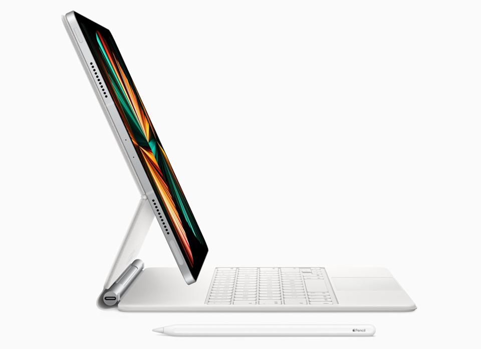 With a Magic Keyboard attached, the iPad Pro is just as much as a laptop as it is a tablet. (Image: Apple)