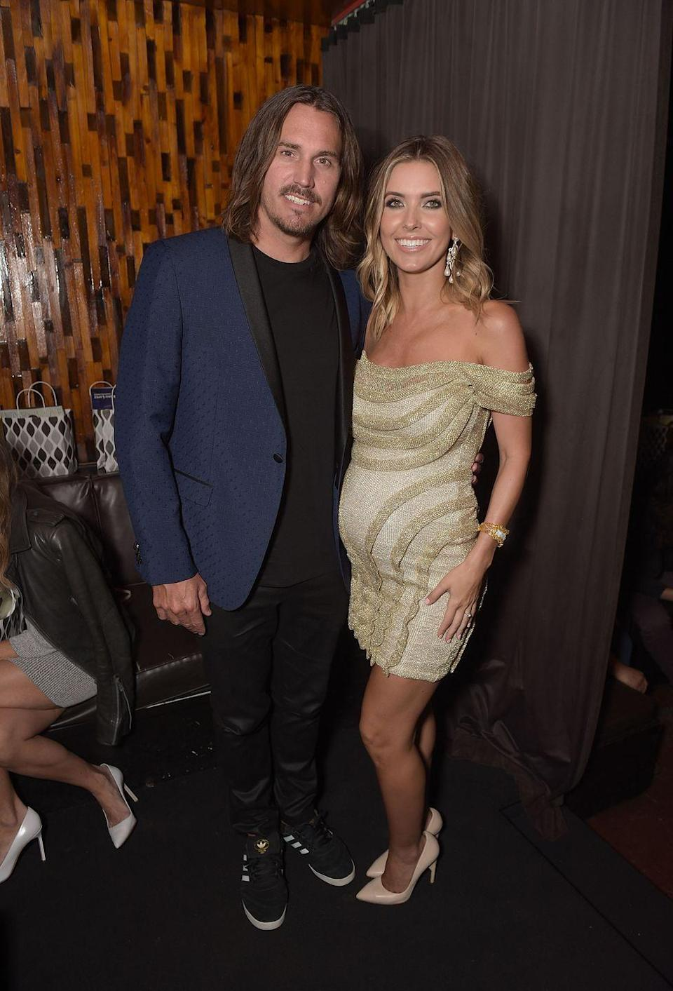 """<p>Before <em>T</em><em>he</em> <em>Hills </em>star and the professional BMX biker's Hawaii wedding in November 2016, they welcomed a daughter named Kirra. But after less than a year of marriage, <a href=""""https://people.com/tv/audrina-patridge-corey-bohan-finalize-divorce/"""" rel=""""nofollow noopener"""" target=""""_blank"""" data-ylk=""""slk:Audrina filed"""" class=""""link rapid-noclick-resp"""">Audrina filed</a> for a divorce and a temporary restraining order from Corey, citing an alleged violent outburst in the court documents.</p>"""