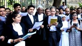 Bombay High Court advocates read Preamble to protest against CAA, NRC