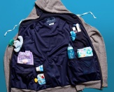 """<p><strong>The Dad Hoodie</strong></p><p>thedadhoodie.com</p><p><strong>$98.00</strong></p><p><a href=""""https://go.redirectingat.com?id=74968X1596630&url=https%3A%2F%2Fthedadhoodie.com%2F&sref=https%3A%2F%2Fwww.oprahdaily.com%2Flife%2Fg26961897%2Fgifts-for-new-dads%2F"""" rel=""""nofollow noopener"""" target=""""_blank"""" data-ylk=""""slk:Shop Now"""" class=""""link rapid-noclick-resp"""">Shop Now</a></p><p>While diaper bags serve a useful purpose with a newborn, they can be burdensome for quick walks around the neighborhood. For new dads who like having their hands free, this ultra soft fleece hoodie has six internal compartments and is made with sturdy double stitch construction that can hold pacifiers, bottles, wipes, and more.</p>"""