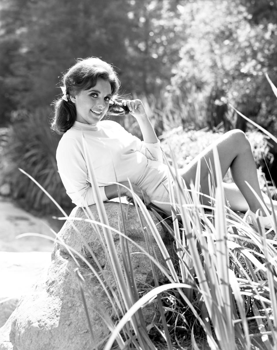 "Dawn Wells portrays Mary Ann Summers in the CBS television program ""Gilligan's Island."" Image dated: July 15, 1965 Hollywood, CA"