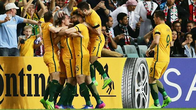 Goals from Jackson Irvine and Mathew Leckie earned an important 2-0 win for Australia over United Arab Emirates in World Cup qualifying.