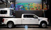 Ford Motor Co. displays its new 2020 F-Series Super Duty pickup truck in Detroit, Michigan, U.S., January 31, 2019. REUTERS/Rebecca Cook