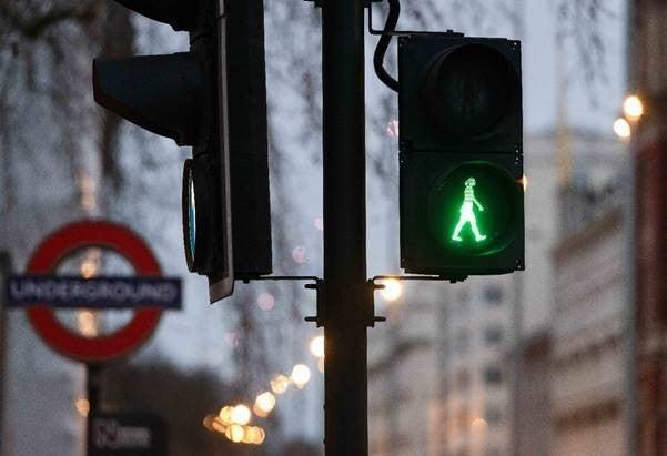 Green woman signals have appeared at more than 20 crossingsTfL