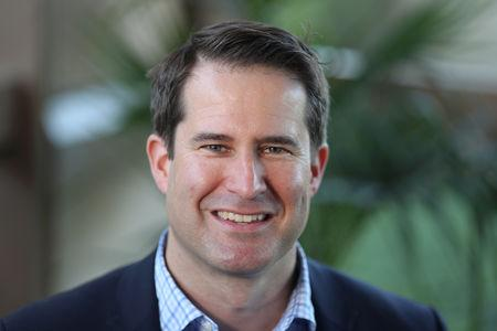 U.S. Democratic presidential candidate Seth Moulton poses for a photo in Burbank, California, U.S., April 26, 2019. Picture taken April 26, 2019. REUTERS/Lucy Nicholson