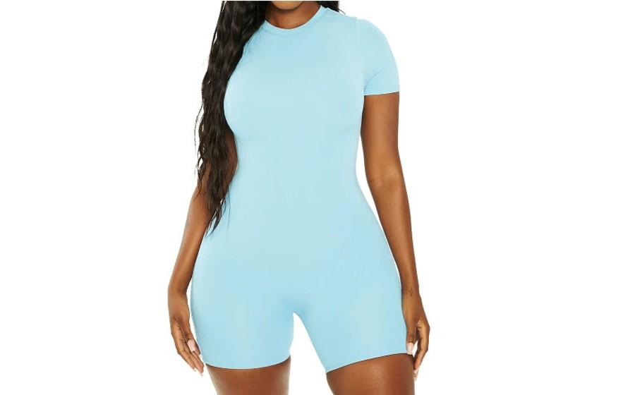 Naked Wardrobe x Mama Malika Short Sleeve Romper - $22 (originally $54)