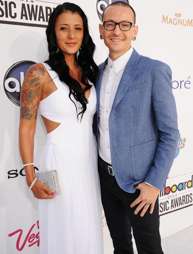 Chester and Talinda Bennington arrive at the 2012 Billboard Music Awards in Las Vegas. (Photo: Frazer Harrison/Getty Images North America)