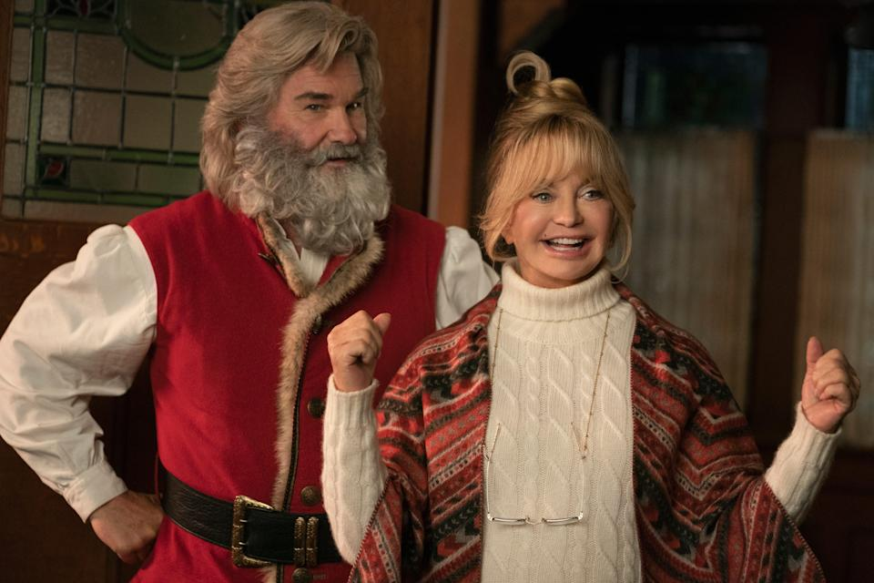 """Santa Claus (Kurt Russell) and Mrs. Claus (Goldie Hawn) team up with some youngsters to save Christmas in the Netflix sequel """"The Christmas Chronicles: Part Two."""""""