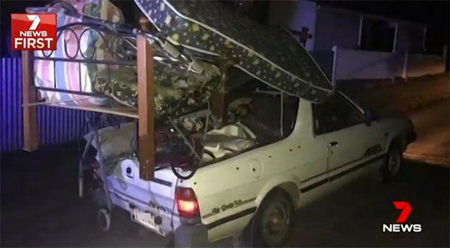 Mr Loffler said the load was safe but police didn't agree. Source: 7 News