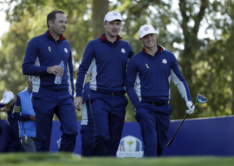 Tiger Woods paired with a villain in Ryder Cup return