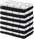 """<p><strong>Utopia Towels</strong></p><p>amazon.com</p><p><strong>$16.99</strong></p><p><a href=""""https://www.amazon.com/dp/B009N83O1C?tag=syn-yahoo-20&ascsubtag=%5Bartid%7C10055.g.36124413%5Bsrc%7Cyahoo-us"""" rel=""""nofollow noopener"""" target=""""_blank"""" data-ylk=""""slk:Shop Now"""" class=""""link rapid-noclick-resp"""">Shop Now</a></p><p>These are some of the most popular kitchen towels on Amazon with over 18,000 reviews and a 4.6 rating. They are made from <strong>100% ring-spun cotton and have small terry loops which helps make them durable and absorbent.</strong> Multiple reviewers say these towels work well to dry dishes and have held up to months of washing. These also come in a variety of colors as well as black and white.</p>"""