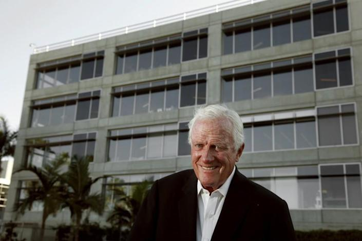 PLAYA VISTA, CA. -- TUESDAY, AUGUST 26, 2014 -- Robert Maguire, who built many of downtown's tallest buildings, is photographed at the Water's Edge office building where he has plans on adding another building. ( Rick Loomis / Los Angeles Times )