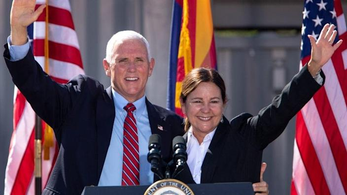 Former Vice President Mike Pence and ex-Second Lady Karen Pence are reportedly looking for a new home in Indiana after their taxpayer-funded free housing officially ended just over a week ago. (Photo by Courtney Pedroza/Getty Images)