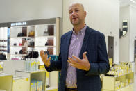 President of Stores Jamie Nordstrom is interviewed at the Nordstrom NYC Flagship store, in New York, Wednesday, July 14, 2021. (AP Photo/Richard Drew)