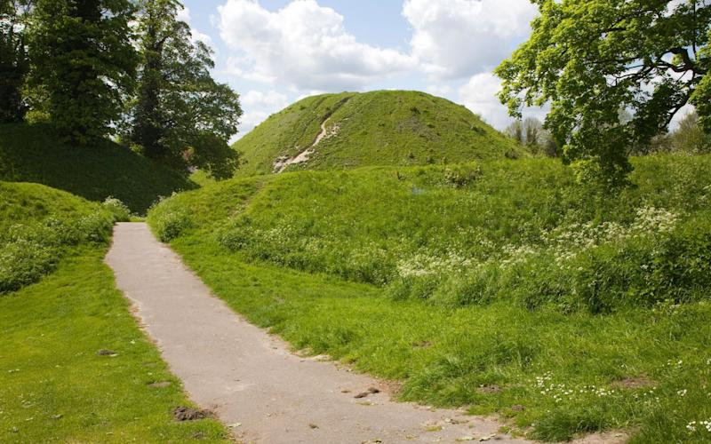 Thetford mound, a medieval motte and bailey castle