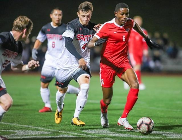 """On YouTube, Simon Fraser University simply calls it """"Mamadi Camara's amazing goal."""" Receiving the ball 40 yards away from goal, the Montreal forward beats five Saint Martin's University defenders and then cooly slots a right-footed shot past the goalkeeper. It was October 2015 and Camara was a freshman. Fast forward a little more than three years and Camara was one of six Canadians invited to the MLS Combine to showcase their skills ahead of Friday's MLS SuperDraft in Chicago. SFU was not Camara's original college destination. When Plan A — Southern New Hampshire University — fell through, he turned to SFU which still had an opening. Moving to the West Coast proved to be serendipity. """"It really allowed me to establish myself as a man and a footballer as well,"""" Camara said in an interview. """"So it was all that I could wish for."""" The six-foot-two 175-pounder is coming off a stellar season with the Clan, scoring nine goals and adding 13 assists. The SFU captain was named Great Northwest Athletic Conference player of the year and was selected to the United Soccer Coaches' Division 2 all-America team with SFU teammate Matteo Polisi. SFU (17-2-0) won its first 16 games of the season, only to see its season end in a 1-0 overtime loss to Cal Poly Pomona in the second round of the NCAA Division 2 tournament. """"We did everything that we had expected and wished for, apart from winning it all,"""" said Camara, an economics and business major. SFU has history with Cal Poly Pomona, which also knocked it out of the 2016 tournament — that time via penalty shootout. A midfielder when he arrived in Burnaby, B.C., Camara was shifted to winger. He wasn't comfortable at first but spending the summer of 2016 playing with Whitecaps FC 2 under Alan Koch (now head coach of MLS expansion side FC Cincinnati) added to his confidence. He shifted to striker as a senior but says he still feels comfortable in the midfield. Camara, a fan of Manchester United midfielder Paul Pogba, sees himself as a play"""