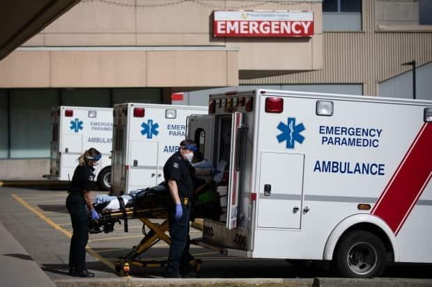 A spokesperson for the union organization representing the more than 4,400 paramedics and emergency dispatchers in B.C. says current staff shortages mean in some cases crews are out of service and response times can be impacted. (Maggie MacPherson/CBC - image credit)