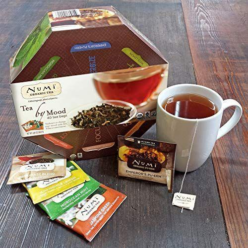 """<p><strong>Numi Organic Tea</strong></p><p>amazon.com</p><p><strong>$26.69</strong></p><p><a href=""""https://www.amazon.com/dp/B0102KZ00C?tag=syn-yahoo-20&ascsubtag=%5Bartid%7C2140.g.19924022%5Bsrc%7Cyahoo-us"""" rel=""""nofollow noopener"""" target=""""_blank"""" data-ylk=""""slk:Shop Now"""" class=""""link rapid-noclick-resp"""">Shop Now</a></p><p>I think it would be impossible for my mom to choose her favorite tea, but luckily, with this tea sampler, she doesn't have to. And neither does yours. </p>"""
