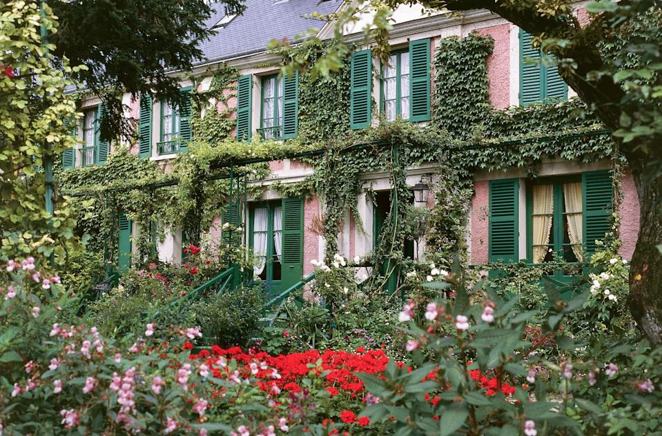 """<p><strong>Population:</strong> 509</p> <p>Giverny is a small village on the border of Normandy most famous for being the site of Claude Monet's cherished riverside house and garden, both of which are <a href=""""https://www.cntraveler.com/galleries/2016-02-29/the-worlds-most-beautiful-houses-you-can-visit?mbid=synd_yahoo_rss"""" rel=""""nofollow noopener"""" target=""""_blank"""" data-ylk=""""slk:open to the public"""" class=""""link rapid-noclick-resp"""">open to the public</a>. The pastel pink house is pretty as a picture, with spring green shutters and ivy crawling up every surface. The gardens are an impressionist painting come to life, with water lilies, weeping willows, wisterias, and that famous green Japanese bridge.</p>"""
