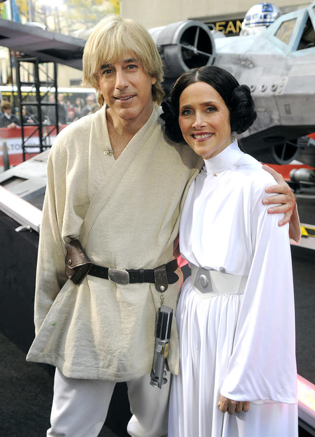 <p>The<em> Today</em> hosts at the time played the parts of Luke Skywalker and Princess Leia. (Photo: Peter Kramer/NBC/NBCU Photo Bank via Getty Images) </p>