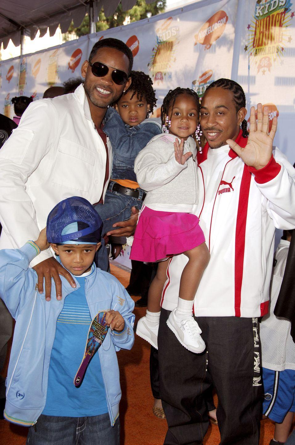 <p>It was quite literally bring your children to work day at the 2006 Nickelodeon Kids' Choice Awards. Not only did Will Smith bring along his crew, Jaden and Willow, but Ludacris's daughter Karma was at the red carpet event as well. </p>