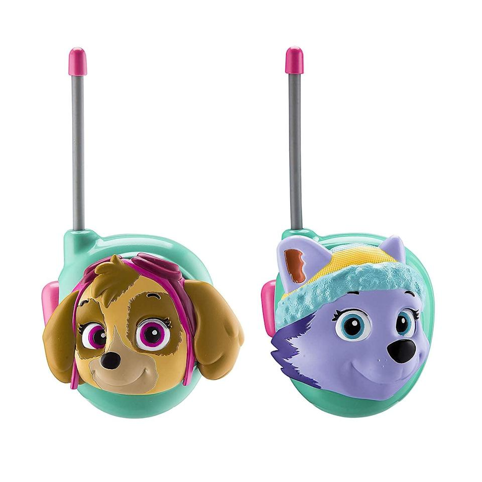 <p>These two-way <span>Paw Patrol Skye and Everest Walkie Talkies</span> ($17) make for both outdoor and indoor fun.</p>