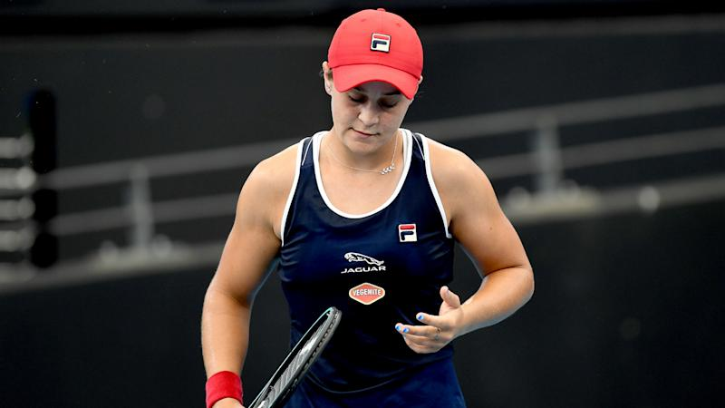Number one Barty unfazed after shock Brisbane exit