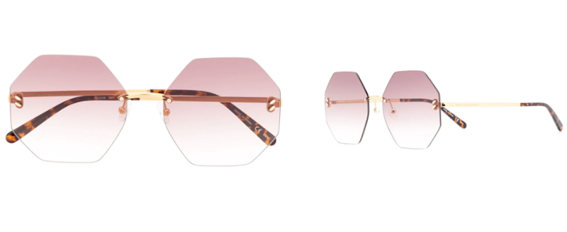STELLA MCCARTNEY EYEWEAR Hexagon tinted sunglasses
