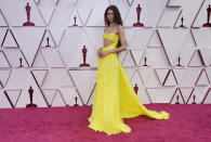 Zendaya arrives at the Oscars on Sunday, April 25, 2021, at Union Station in Los Angeles. (AP Photo/Chris Pizzello, Pool)