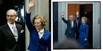 <p>The Conservative politician was elected the UK's first female prime minister on May 4, and celebrated with a wave along with her husband Denis outside number 10.</p>