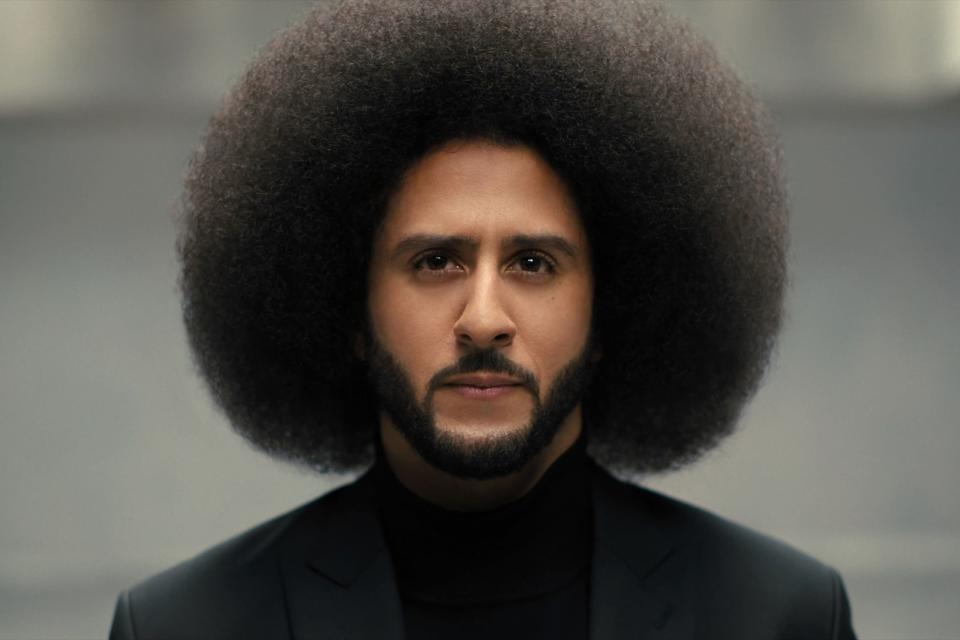 """<strong><em>Colin in Black & White</em></strong><br><br>NFL quarterback Colin Kaepernick made headlines back in 2016, kneeling during the US national anthem in protest against racial inequality and police brutality – and has not played in the NFL since. Co-created by <a href=""""https://www.refinery29.com/en-gb/2020/09/10040546/netflix-residue-review"""" rel=""""nofollow noopener"""" target=""""_blank"""" data-ylk=""""slk:Ava DuVernay"""" class=""""link rapid-noclick-resp"""">Ava DuVernay</a>, this six-episode series tackles his inspiring story at the intersection of race, class and culture, becoming the activist and cultural icon he is today. <br><br>Available 29th October<span class=""""copyright"""">Photo Courtesy of Netflix.</span>"""