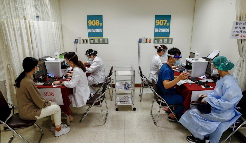 Less than 1 per cent of Taiwan's 23 million people have been vaccinated. Photo: EPA-EFE