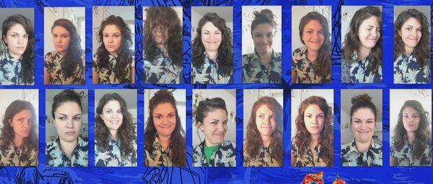 This woman wore the same Hawaiian shirt to 264 Zoom meetings with co-workers, she told InsideEdition. (Photo: InsideEdition)