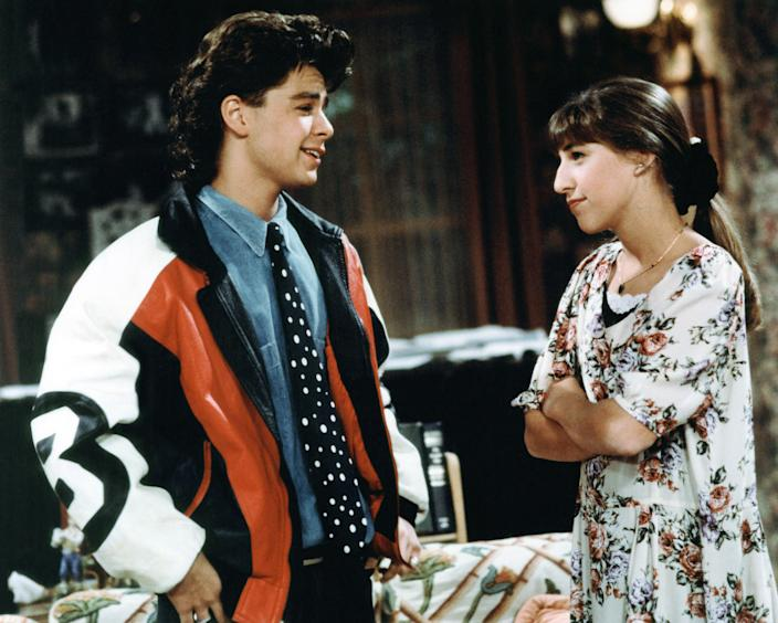 """Mayim Bialik, right, starred with Joey Lawrence in """"Blossom."""" (Photo: Touchstone Television/Courtesy: Everett Collection)"""