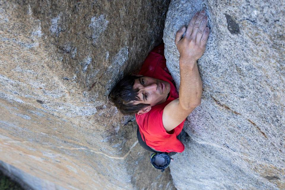 """<p>The only """"character"""" from a non-fiction film on this list, Honnold also climbed a rock face without equipment. The difference between him and Ethan Hunt is that he does it for real. Like, <em>for real</em> for real. Definitely tough. Also kind of crazy.</p>"""