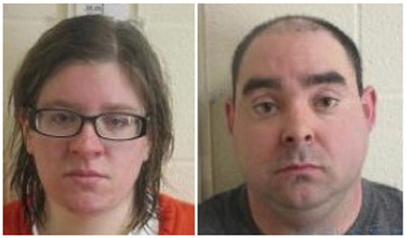 "These undated photos provided by the Chenango County Sheriff's Department in Norwich, N.Y. shows Heather and Ernest Franklin. The couple decided to kill their disabled adoptive son and cover up the crime with a house fire after watching the Oscar-winning movie ""Manchester by the Sea,"" according to the New York prosecutor handling the case. (Chenango County Sheriff's Department/WBNG News via AP)"