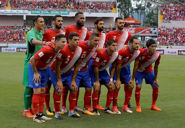 FILE PHOTO: Soccer Football - 2018 World Cup Qualifications - Costa Rica v Honduras - National stadium, San Jose, Costa Rica, October 7, 2017. Costa Rica national soccer team players pose for a photo. REUTERS/Juan Carlos Ulate/File Photo