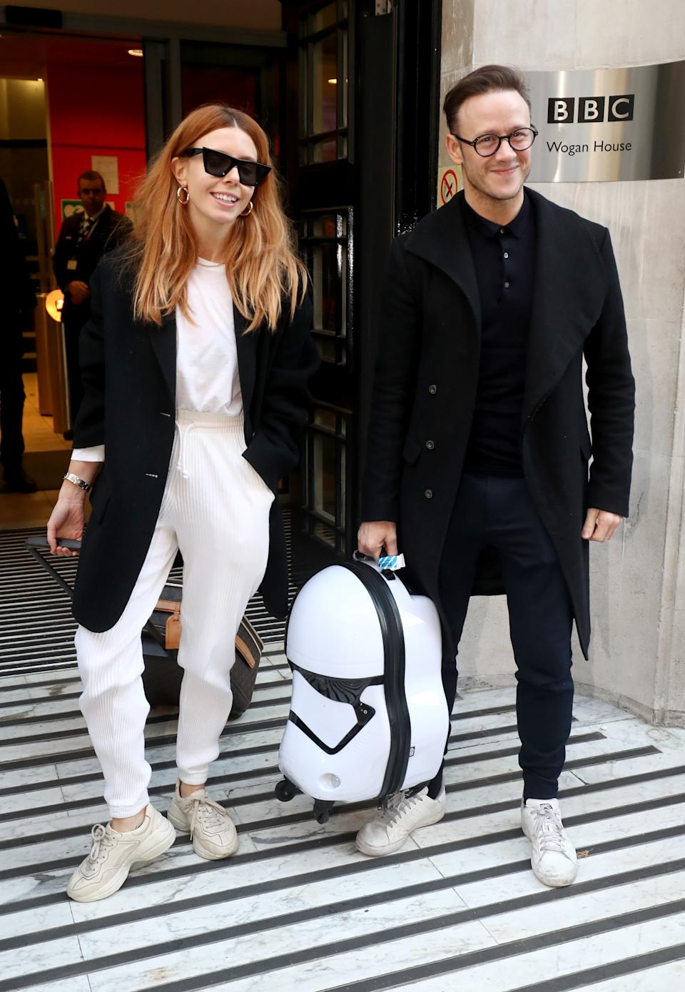 Stacey Dooley pictured with Kevin Clifton in 2018. (Photo by Gareth Fuller/PA Images via Getty Images)