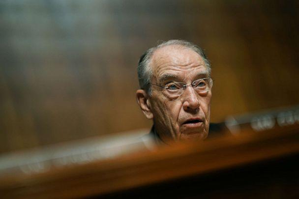 PHOTO:Sen. Chuck Grassley speaks during a Senate Judiciary Committee hearing in Washington, D.C., May 1, 2019. (Andrew Harrer/Bloomberg via Getty Images)