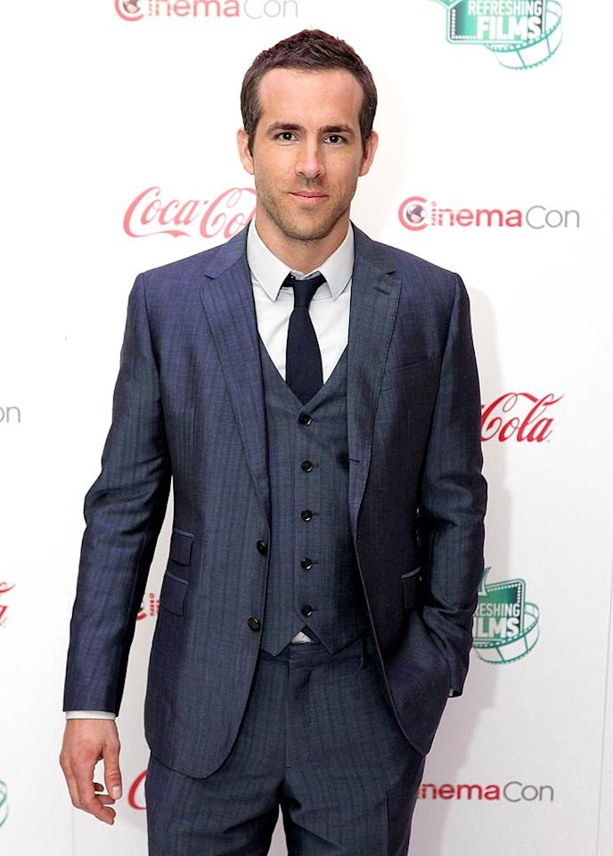 """With those big eyes, ripped bod, and hilarious personality, it's only natural that <i>People</i>'s Sexiest Man Alive, 34-year-old Ryan Reynolds, would make the list as well! Ryan Miller/<a href=""""http://www.gettyimages.com/"""" target=""""new"""">GettyImages.com</a> - March 31, 2011"""